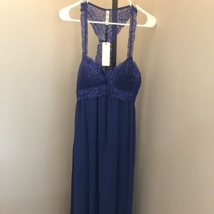 NWT - Sapphire Lace Maxi Dress